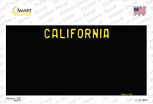 California Black State Wholesale Novelty Sticker Decal