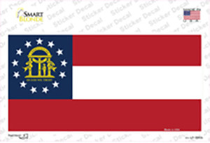 Georgia State Flag Wholesale Novelty Sticker Decal