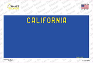 California Blue State Wholesale Novelty Sticker Decal