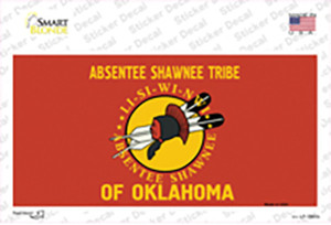Absentee Shawnee Tribe Flag Wholesale Novelty Sticker Decal