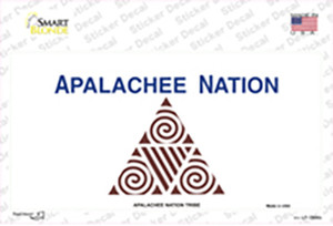 Apalachee Nation Flag Wholesale Novelty Sticker Decal