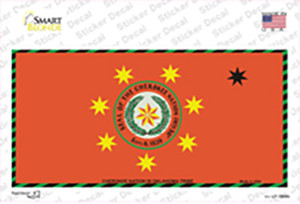 Cherokee Nation Flag Wholesale Novelty Sticker Decal