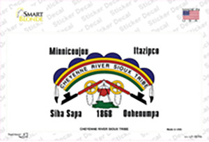 Cheyenne River Sioux Flag Wholesale Novelty Sticker Decal