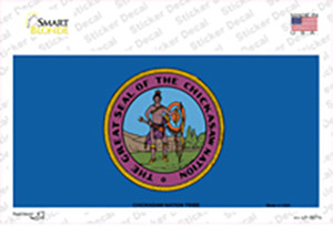 Chickasaw Nation Flag Wholesale Novelty Sticker Decal