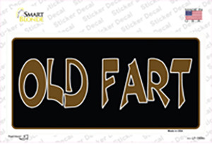 Old Fart Wholesale Novelty Sticker Decal