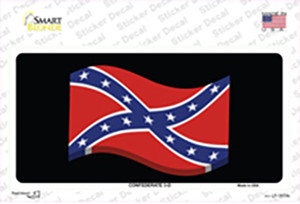 Confederate 3-D Flag Wholesale Novelty Sticker Decal
