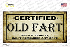 Certified Old Fart Wholesale Novelty Sticker Decal