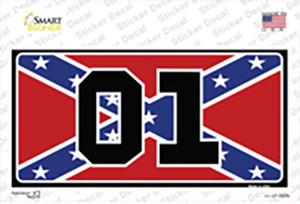Confederate Flag 01 Wholesale Novelty Sticker Decal