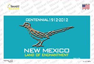Road Runner Teal New Mexico Wholesale Novelty Sticker Decal