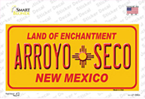 Arroyo Seco Yellow New Mexico Wholesale Novelty Sticker Decal