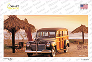 1941 Woody On The Beach Wholesale Novelty Sticker Decal