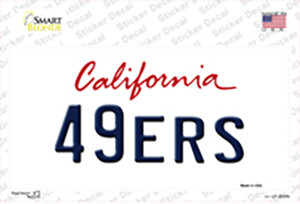 49ERS California State Wholesale Novelty Sticker Decal