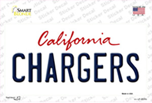 Chargers California State Wholesale Novelty Sticker Decal