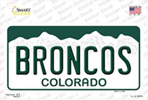 Broncos Colorado State Wholesale Novelty Sticker Decal