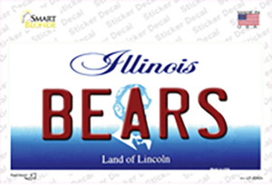 Bears Illinois State Wholesale Novelty Sticker Decal