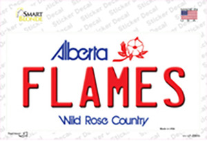 Flames Alberta Canada Province Wholesale Novelty Sticker Decal