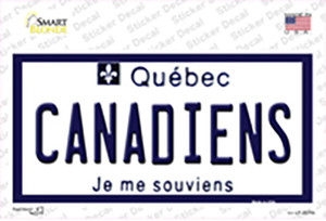 Canadiens Quebec Canada Province Wholesale Novelty Sticker Decal