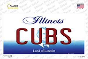 Cubs Chicago Illinois State Wholesale Novelty Sticker Decal