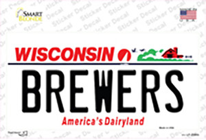 Brewers Wisconsin State Wholesale Novelty Sticker Decal