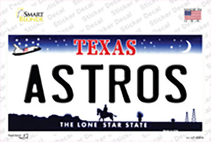 Astros Texas State Wholesale Novelty Sticker Decal