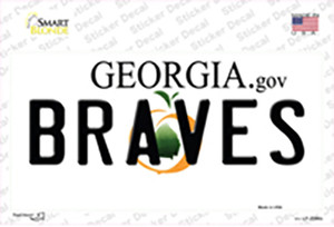 Braves Georgia State Wholesale Novelty Sticker Decal