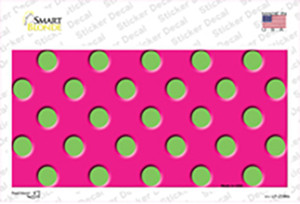 Lime Green Polka Dots Hot Pink Wholesale Novelty Sticker Decal
