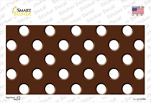 White Brown Polka Dots Wholesale Novelty Sticker Decal