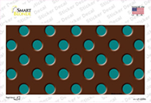 Teal Polka Dots Brown Wholesale Novelty Sticker Decal