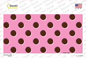 Chocolate Brown Polka Dots Pink Wholesale Novelty Sticker Decal