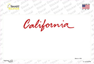 California State Background Wholesale Novelty Sticker Decal