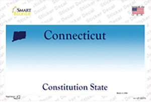 Connecticut State Background Wholesale Novelty Sticker Decal