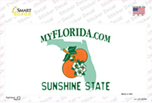 Florida State Blank Wholesale Novelty Sticker Decal