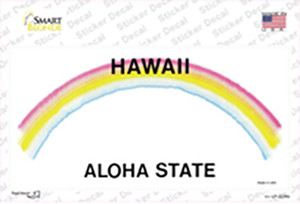 Hawaii State Blank Wholesale Novelty Sticker Decal