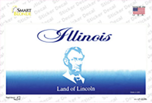 Illinois State Blank Wholesale Novelty Sticker Decal