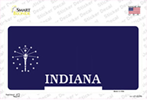 Indiana State Blank Wholesale Novelty Sticker Decal