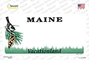 Maine State Blank Wholesale Novelty Sticker Decal