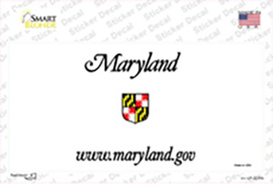 Maryland State Blank Wholesale Novelty Sticker Decal