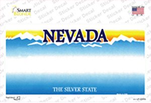 Nevada State Blank Wholesale Novelty Sticker Decal