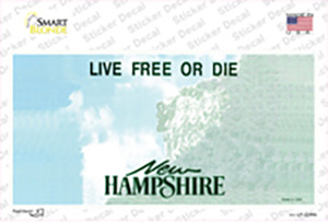 New Hampshire State Blank Wholesale Novelty Sticker Decal