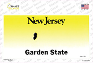 New Jersey State Blank Wholesale Novelty Sticker Decal