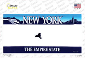 New York State State Blank Wholesale Novelty Sticker Decal