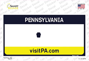 Pennsylvania State Blank Wholesale Novelty Sticker Decal