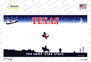 Texas State Blank Wholesale Novelty Sticker Decal