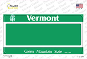 Vermont State Blank Wholesale Novelty Sticker Decal