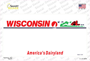 Wisconsin State Blank Wholesale Novelty Sticker Decal