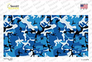 Blue Camouflage Wholesale Novelty Sticker Decal