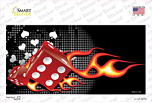 Fire Dice Flame Wholesale Novelty Sticker Decal