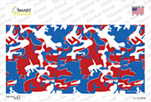 Patriotic Camouflage Wholesale Novelty Sticker Decal
