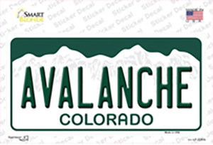 Avalanche Colorado State Wholesale Novelty Sticker Decal