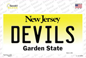 Devils New Jersey State Wholesale Novelty Sticker Decal